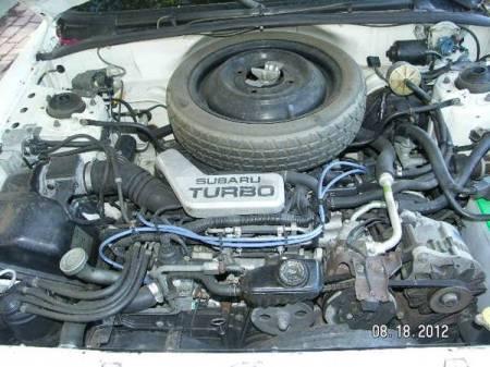 1987 Subaru GL turbo engine