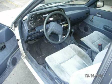1987 Subaru GL turbo interior