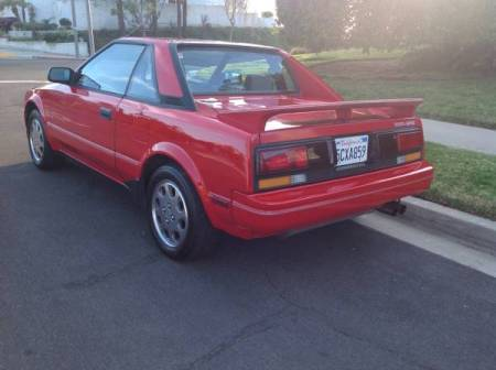 1989 Toyota MR2 left rear