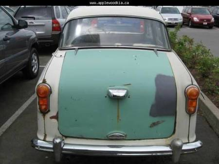 1958 Austin A55 Cambridge rear