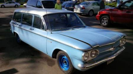 1961 Chevrolet Corvair Lakewood blue right front