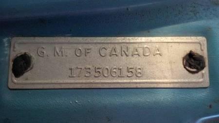 1961 Chevrolet Corvair Lakewood blue tag