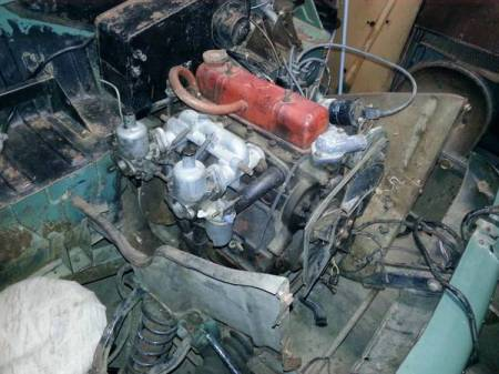 1962 Triumph Herald engine