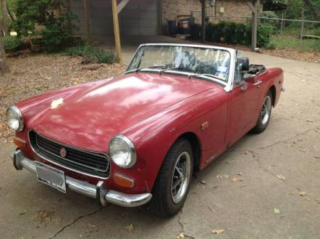 1974 MG Midget left front