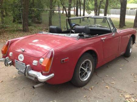 1974 MG Midget right rear