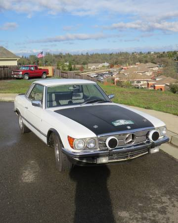 1978 Mercedes 280SLC right front