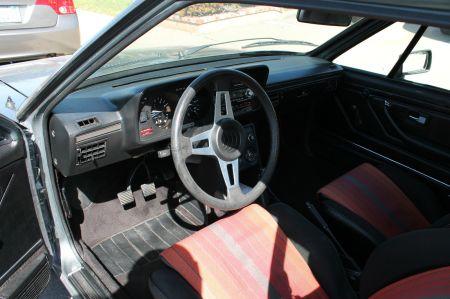 1981 VW Scirocco S interior
