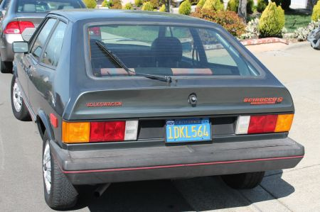 1981 VW Scirocco S left rear