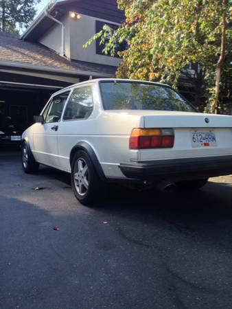 1984 VW Jetta Coupe left rear