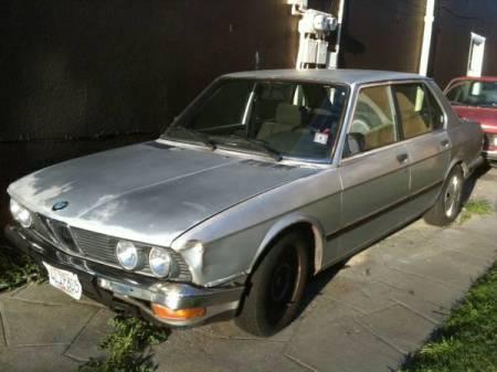 1985 BMW 520i left front