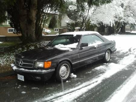 1986 Mercedes 560 SEC left front