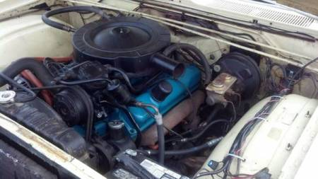 1967 Plymouth Fury III engine