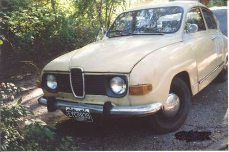 1973 Saab 96 left front