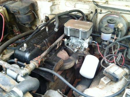 1973 Toyota Land Cruiser FJ55 engine