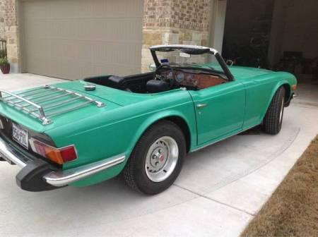1976 Triumph TR6 right rear