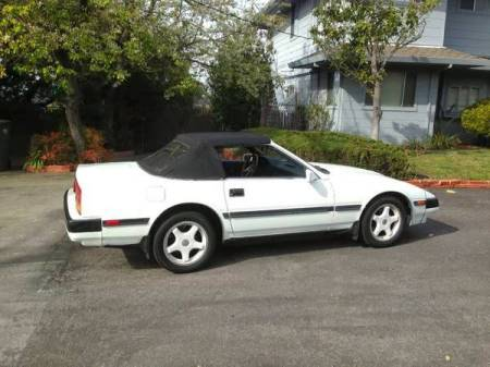 1984 Nissan 300ZX convertible right rear