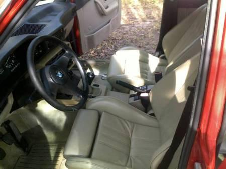 1987 BMW 535is interior