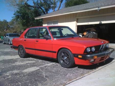 1987 BMW 535is right front