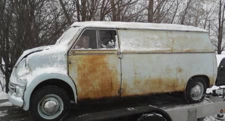 1960 Lloyd LT600 van left front