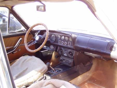 1972 Fiat 124 Coupe beige interior