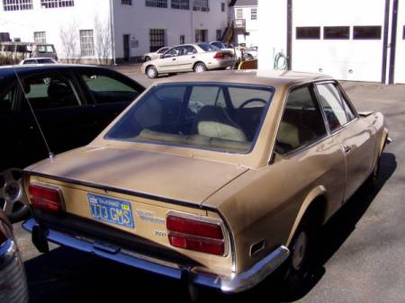 1972 Fiat 124 Coupe beige right rear