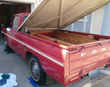 1974 Ford Courier left rear