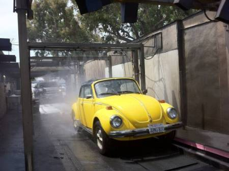 1976 Volkswagen Beetle Convertible carwash