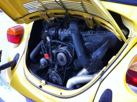 1976 Volkswagen Beetle Convertible engine