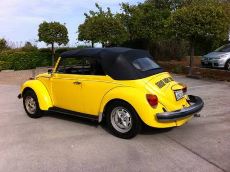 1976 Volkswagen Beetle Convertible left rear