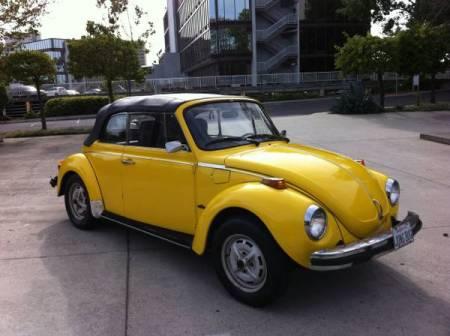 1976 Volkswagen Beetle Convertible right front