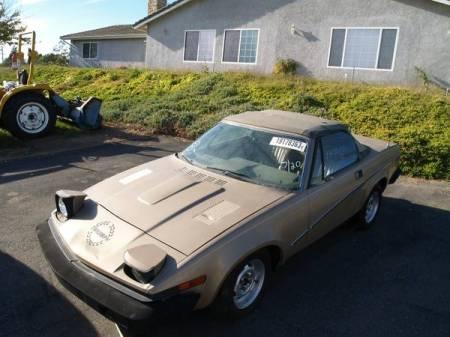 1980 Triumph TR7 gold left front
