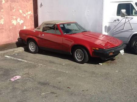 1980 Triumph TR7 red right front