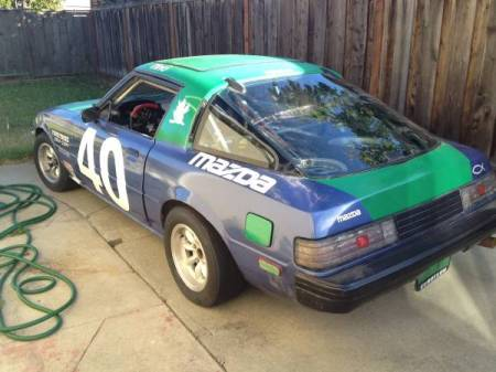 1981 Mazda RX-7 race car left rear