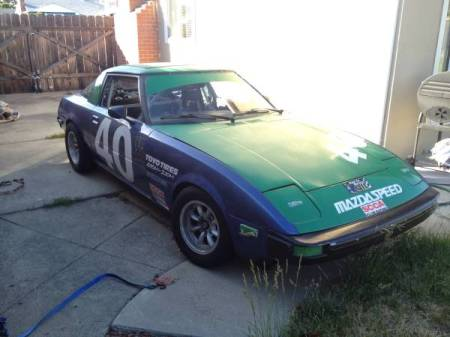 1981 Mazda RX-7 race car right front