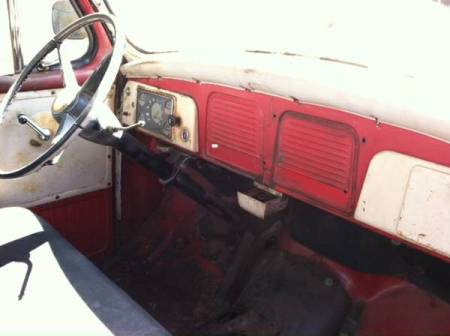 1955 Studebaker pickup interior