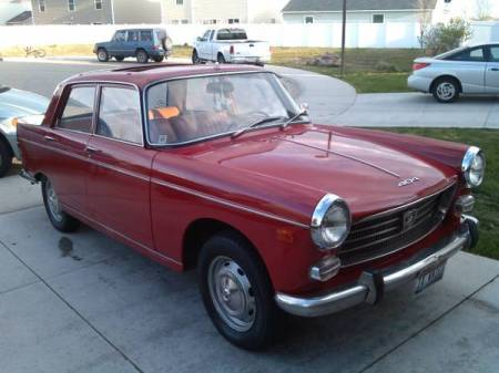 1969 Peugeot 404 right front