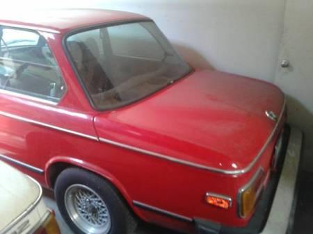1974 BMW 2002 red rear