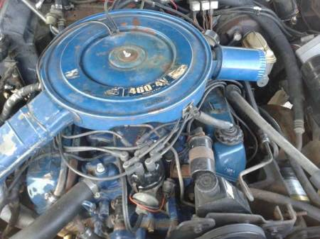 1974 Lincoln Continental Town Coupe engine