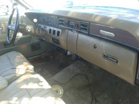 1974 Lincoln Continental Town Coupe interior