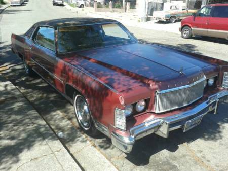 1974 Lincoln Continental Town Coupe right front