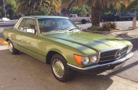 1975 Mercedes 280SLC right front