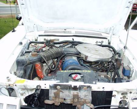 1977 Ford Pinto Cruising Wagon engine