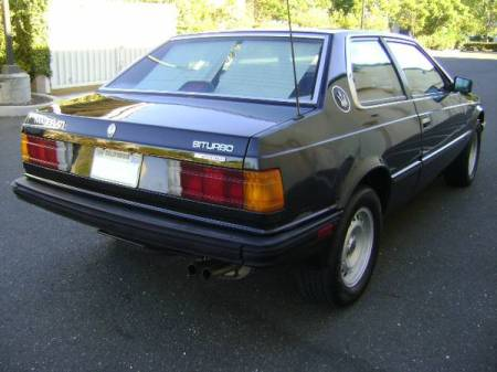 1984 Maserati Biturbo right rear