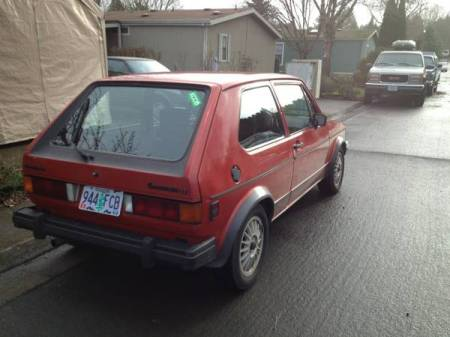 1984 VW Rabbit GTI right rear