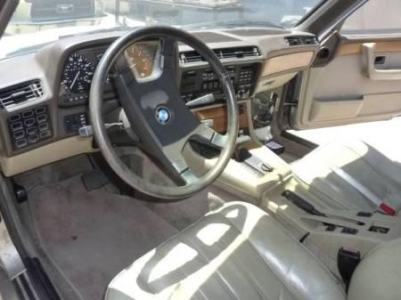 1985 BMW 745i interior