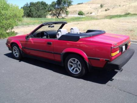 1985 Toyota Celica convertible left rear