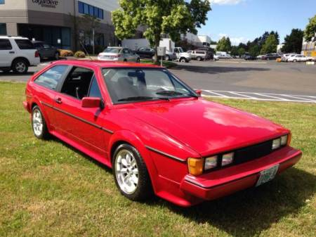 1986 VW Scirocco right front