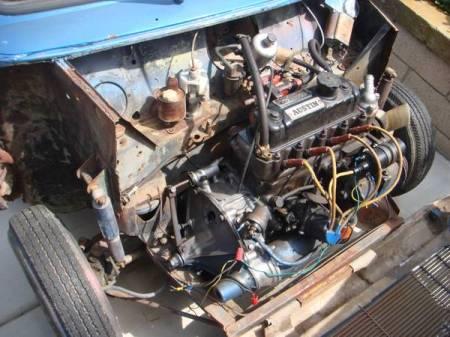 1961 Austin Mini van engine