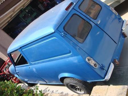 1961 Austin Mini van left rear