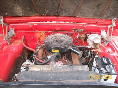 1966 Dodge D100 engine